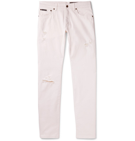 Skinny-fit Distressed Stretch-denim Jeans Dolce & Gabbana vYk3Ed5Z