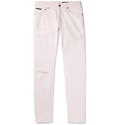 Dolce & Gabbana - Slim-Fit Distressed Stretch-Denim Jeans