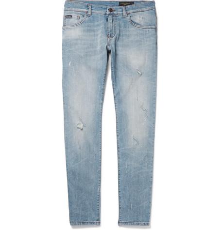 distressed slim fit jeans Dolce & Gabbana EE3Mjt2Aj