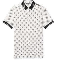 Dolce & Gabbana Polka-Dot Cotton-Piqué Polo Shirt