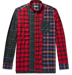 Lanvin Patchwork Checked Cotton-Blend Shirt