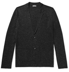 Lanvin Mélange Wool, Silk and Linen-Blend Cardigan