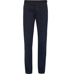 Lanvin Garment-Dyed Cotton-Twill Trousers