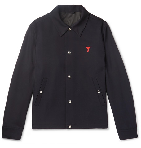 Vente Pas Cher Large Gamme De Embroidered Wool Jacket - NavyAmi Magasin Discount A5IFd