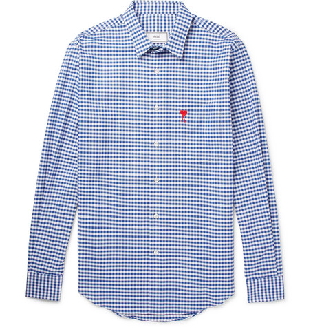 Gingham Cotton Shirt by Ami