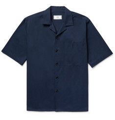 AMI Camp-Collar Cotton-Twill Shirt