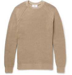 AMI Ribbed Mercerised Cotton Sweater