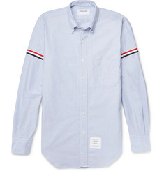 Thom Browne Grosgrain-Trimmed Cotton Oxford Shirt
