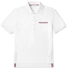 Thom Browne Mercerised Cotton-Piqué Polo Shirt