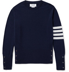 Thom Browne - Slim-Fit Striped Cashmere Sweater
