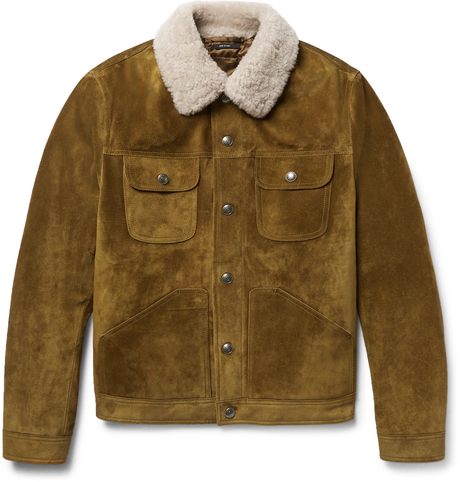 7fee3b30c74d TOM FORD Shearling-Trimmed Suede Jacket