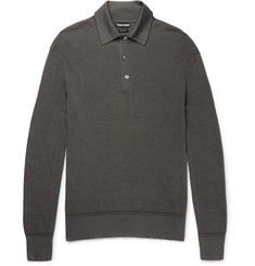 TOM FORD Knitted Cotton-Blend Polo Shirt