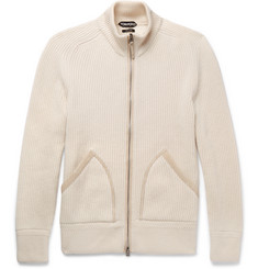 TOM FORD - Ribbed Cashmere Zip-Up Cardigan