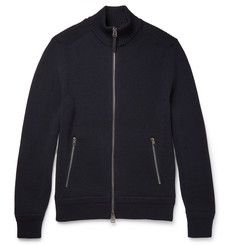TOM FORD - Ribbed Merino Wool Zip-Up Sweater