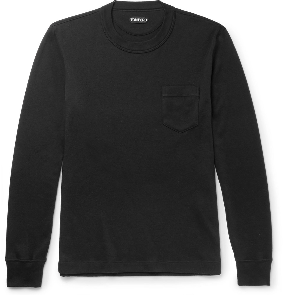 Slim-fit Cashmere T-shirt - Black