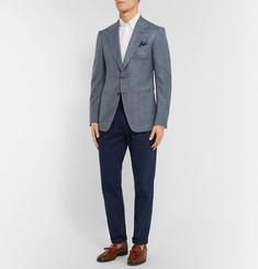 TOM FORDBlue Shelton Slim-Fit Wool, Silk and Linen-Blend Suit Jacket