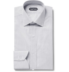 TOM FORD - Slim-Fit Striped Cotton Shirt