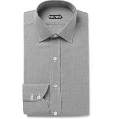 TOM FORD - Slim-Fit Woven Cotton-Blend Shirt