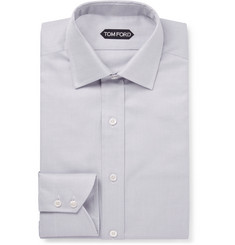TOM FORD Grey Slim-Fit Cotton-Twill Shirt