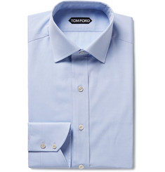 TOM FORD - Light-Blue Slim-Fit Cotton-Poplin Shirt