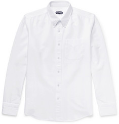 TOM FORD - Button-Down Collar Cotton Oxford Shirt