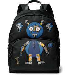 Prada - Robot Saffiano Leather-Trimmed Nylon Backpack