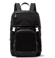 Prada Velcro-Panelled Quilted Nylon Backpack