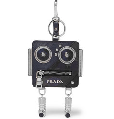 Prada Robot Saffiano Leather Key Fob