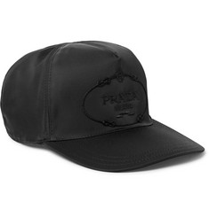Prada Embroidered Nylon Baseball Cap