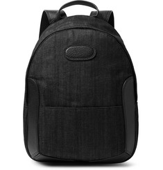 Maison Margiela Full-Grain Leather-Trimmed Denim Backpack