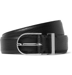 Maison Margiela 3cm Black Textured-Leather Belt