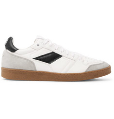 AMI Leather and Suede Sneakers