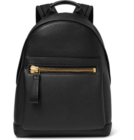 Buckley Pebble-grain Leather Backpack - Black