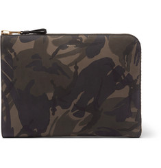 TOM FORD Camouflage-Print Nubuck Pouch