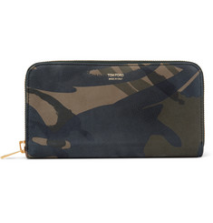 TOM FORD Camouflage-Print Nubuck Wallet
