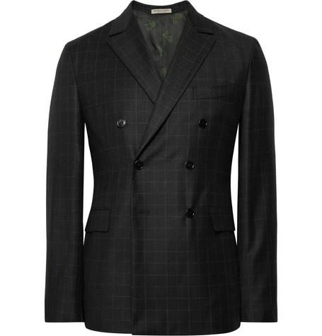Charcoal Slim-fit Windowpane-checked Wool Suit Trousers - CharcoalBottega Veneta Vente Le Plus Grand Fournisseur Vraiment Pas Cher En Ligne Sortie 2018 MuED1ES