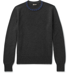 Bottega Veneta Contrast-Trimmed Wool and Cashmere-Blend Sweater