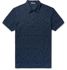 Bottega Veneta Printed Cotton-Piqué Polo Shirt