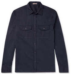 Bottega Veneta Slim-Fit Garment-Dyed Cotton-Poplin Shirt