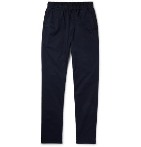 Slim Fit Garment Dyed Cotton Trousers by Bottega Veneta