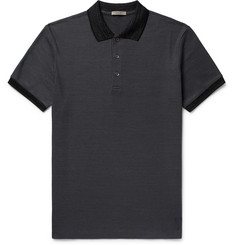 Bottega Veneta Slim-Fit Contrast-Trimmed Cotton-Piqué Polo Shirt