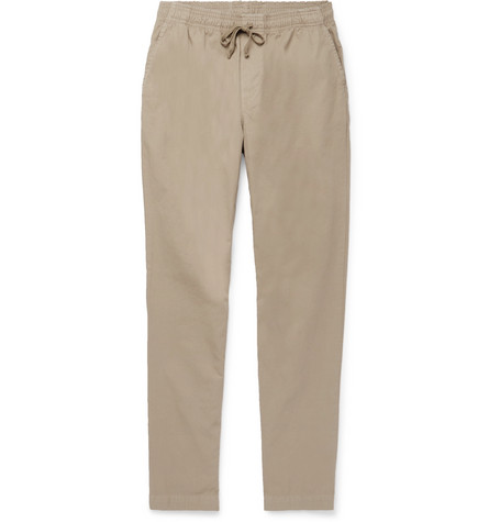 Easy Cotton-twill Drawstring Trousers - Beige