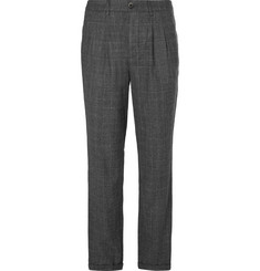 Barena Slim-Fit Tapered Prince of Wales Checked Wool Trousers