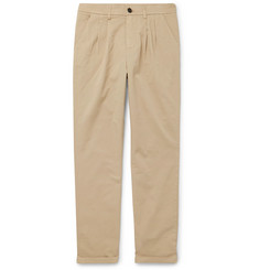 Barena - Tapered Stretch-Cotton Twill Trousers