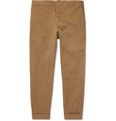Barena - Cropped Stretch Cotton-Twill Trousers