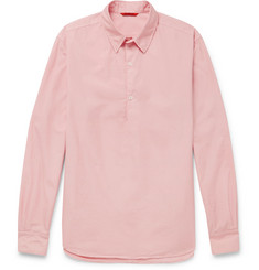 Barena - Slim-Fit Cotton-Poplin Half-Placket Shirt