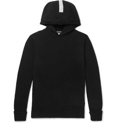 Neil Barrett - Intarsia Wool and Cashmere-Blend Hoodie