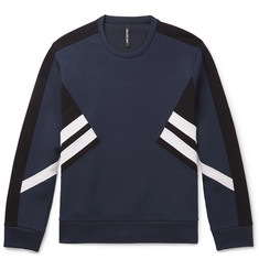Neil Barrett Striped Stretch-Jersey Sweatshirt