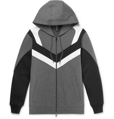 Neil Barrett Panelled Neoprene Zip-Up Hoodie