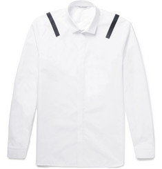 Neil Barrett Vinyl-Trimmed Cotton Shirt